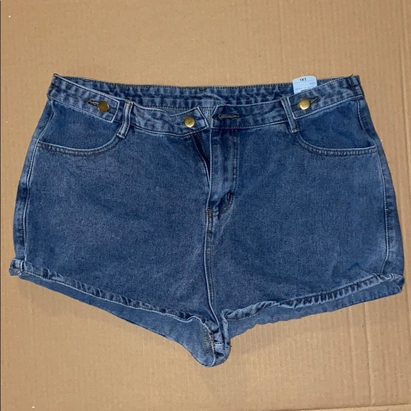 Blue denim jean shorts